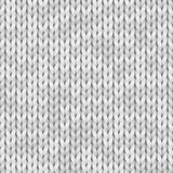 Białej dzianiny bezszwowa tekstura Bezszwowy wzór dla druku projekta, tła, tapeta Koloru biel, światło - szarość zdjęcia stock