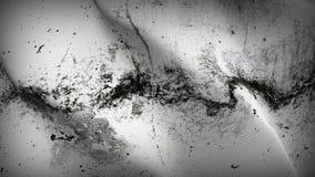 Białej flaga grunge brudny chorągwiany falowanie na wiatrze zdjęcie royalty free