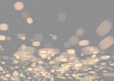Białej iskry błyskotliwości specjalny lekki skutek Wektor błyska na przejrzystym tle Bożenarodzeniowy abstrakta wzór Obrazy Stock