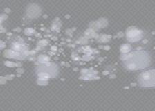 Białej iskry błyskotliwości specjalny lekki skutek Wektor błyska na przejrzystym tle Bożenarodzeniowy abstrakta wzór Zdjęcia Royalty Free