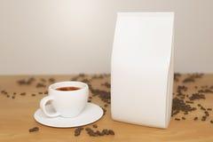 Białej kawy pakunek ilustracji