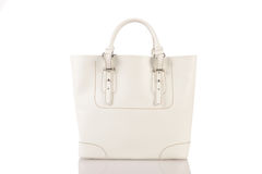 Białej Kobiety torebka odizolowywająca na białym tle Zdjęcia Royalty Free