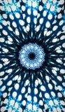 Białej kropki kalejdoskopu mandala błękitny vertical ilustracji