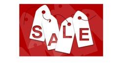 Białej sprzedaży karty Obraz Stock