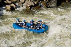 Białej wody flisactwo Zamora Ekwador zdjęcia stock