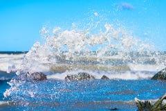 Białej wody pluśnięcie Zdjęcia Stock