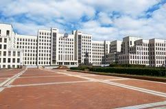 Białoruś Budynek Rządowy dom w Minsk Zabytek Lenin blisko budynku Rządowy dom Ma Zdjęcia Royalty Free