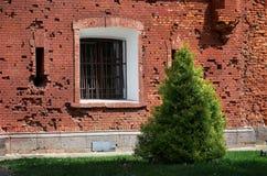 Białoruś Dom uszkadzał strzelać w Brest fortecy Maj 23, 2017 Obrazy Royalty Free