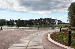 Białoruś Grodno Mir kasztel jest muzeum i kasztelu kompleksem Ościenny terytorium kasztel Maj 22, 2017 Fotografia Stock