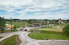 Białoruś Grodno Mir kasztel jest muzeum i kasztelu kompleksem Ościenny terytorium kasztel Maj 22, 2017 Zdjęcia Stock