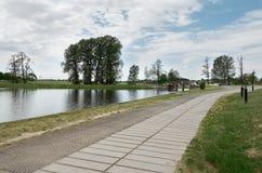 Białoruś Grodno Mir kasztel jest muzeum i kasztelu kompleksem Ościenny terytorium kasztel Maj 22, 2017 Zdjęcie Royalty Free