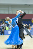 Białoruś, Luty, 22: Niezidentyfikowana taniec para Wykonuje Fotografia Stock