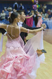 Białoruś, Luty, 22: Niezidentyfikowana taniec para Wykonuje Zdjęcie Stock