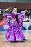 Białoruś, Luty, 22: Niezidentyfikowana taniec para Wykonuje Obrazy Stock