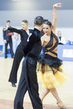 Białoruś, Luty, 22: Niezidentyfikowana taniec para Wykonuje Fotografia Royalty Free