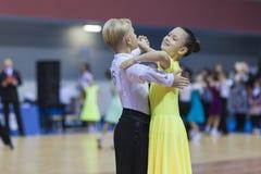 Białoruś, Luty, 23: Niezidentyfikowana taniec para Wykonuje Zdjęcie Royalty Free
