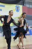 Białoruś, Luty, 23: Niezidentyfikowana taniec para Wykonuje Zdjęcie Stock