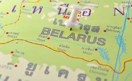 Białoruś mapa Zdjęcia Stock