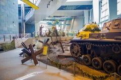 BIAŁORUŚ MINSK, MAJ, - 01, 2018: Salowy widok stanu muzeum Wielkie Patriotyczne Wojenne wystawy muzeum z Obraz Stock