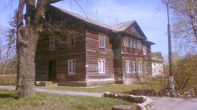 Białoruś, Minsk region, retro, USSR, wygłupy, stary dom obrazy royalty free