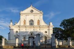 Białoruś, Nesvizh, Corpus Christi kościół Obrazy Royalty Free