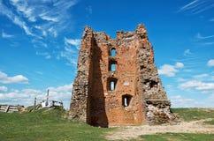 Białoruś novogrudok grodowe ruiny Maj 25, 2017 Fotografia Stock