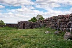 Białoruś novogrudok grodowe ruiny Maj 25, 2017 Obraz Stock