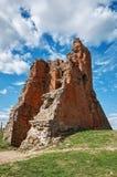 Białoruś novogrudok grodowe ruiny Maj 25, 2017 Zdjęcia Stock