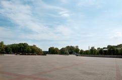 Białoruś Otwarty teren w Brest fortecy Maj 23, 2017 Zdjęcie Stock