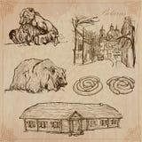 Białoruś Ręka rysująca wektor paczka żadny 7 Fotografia Royalty Free