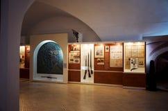 Białoruś wojna Brest pomnik wejściowy forteczny główny Muzeum obrona Brest bohater Wewnętrzna dekoracja muzeum Maj 23, 2017 Fotografia Stock