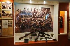 Białoruś wojna Brest pomnik wejściowy forteczny główny Muzeum obrona Brest bohater Wewnętrzna dekoracja muzeum Maj 23, 2017 Obraz Stock