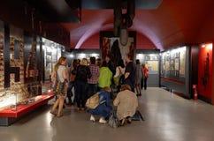 Białoruś wojna Brest pomnik wejściowy forteczny główny Muzeum obrona Brest bohater Wewnętrzna dekoracja muzeum Maj 23, 2017 Zdjęcie Royalty Free