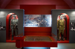 Białoruś wojna Brest pomnik wejściowy forteczny główny Muzeum obrona Brest bohater Wewnętrzna dekoracja muzeum Maj 23, 2017 Zdjęcie Stock