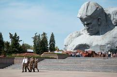 Białoruś wojna Brest pomnik wejściowy forteczny główny Pomnikowy ` odwaga ` w Brest fortecy Maj 23, 2017 Obrazy Stock