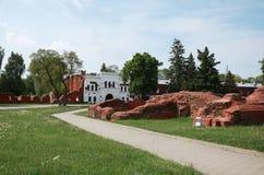 Białoruś wojna Brest pomnik wejściowy forteczny główny Ruiny stary ściana z cegieł Maj 23, 2017 Obraz Royalty Free