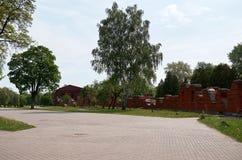 Białoruś wojna Brest pomnik wejściowy forteczny główny Ruiny stary ściana z cegieł Maj 23, 2017 Obrazy Stock