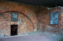 Białoruś wojna Brest pomnik wejściowy forteczny główny Zabytek Drugi wojna światowa Maj 23, 2017 Obraz Royalty Free