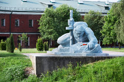 Białoruś wojna Brest pomnik wejściowy forteczny główny Zabytek Drugi wojna światowa Maj 23, 2017 Obrazy Stock