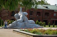 Białoruś wojna Brest pomnik wejściowy forteczny główny Zabytek Drugi wojna światowa Maj 23, 2017 Fotografia Royalty Free