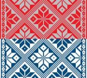 Białoruski etniczny ornament, bezszwowy wzór również zwrócić corel ilustracji wektora Zdjęcia Royalty Free