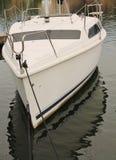 Biały łódź Obrazy Stock