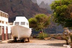 Biały łódź Zdjęcie Royalty Free