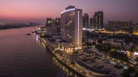 Biały łabędzi hotel Obraz Royalty Free