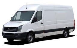 Biały ładunku minibus zdjęcia stock