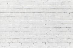 Biały ściana z cegieł. Bezszwowa fotografii tekstura Obrazy Stock