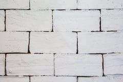 Biały ściana z cegieł dla tła lub tekstury Obrazy Stock
