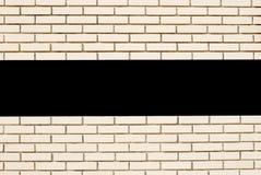 Biały ściana z cegieł horyzontalna linia z przestrzenią dla teksta Obraz Royalty Free