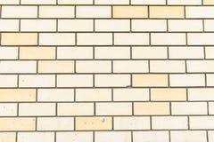 Biały ściana z cegieł, perfect jako tło, kwadratowa fotografia Obrazy Stock