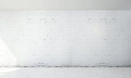 Biały ściana z cegieł tło i Zdjęcia Royalty Free